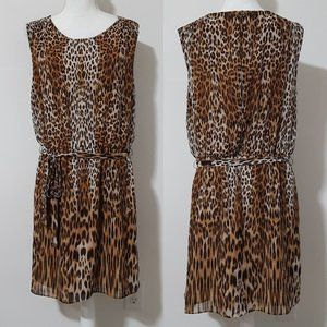 C. Wonder Leopard Cat Print Dress Large